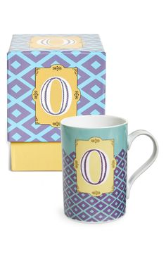 This letter mug would add a fun bit of color to a desk or make a great gift
