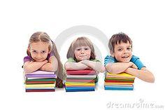 Kids with books by Nagy-bagoly Ilona, via Dreamstime