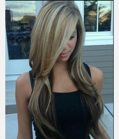 Blond hair with brown underneath