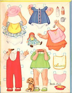 An adorable baby paper doll by the artist Kathy Lawrence.  This book was published by Whitman in 1970.  Baby has l...