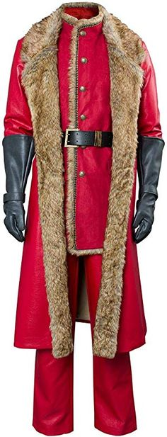 christmas costumes for men Mens Christmas Movie Santa Claus Cosplay Costume Outfit Red Leather Coat gt; Find out more about the great product at the image link. (This is an affiliate link) Long Leather Coat, Red Leather, Leather Jackets, Santa Outfit, Santa Suits, Langer Mantel, Christmas Costumes, Holiday Outfits, Cosplay Costumes