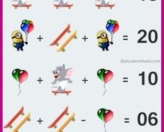 The Mouse Puzzle - Viral Logic Math Puzzle Image. Solve this fun math puzzle image. Viral Brainteasers Math Puzzles, Fun maths puzzle questions with answers. brain math puzzles for kids and adults. Math For Kids, Puzzles For Kids, Logic Math, Math Help, Learn Math, Fun Math Games, Maths Puzzles, Number Puzzles, Brain Teasers