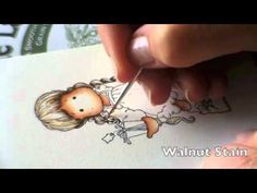 """In this video I show you my way to color with Distress Inks. Stamp: Tilda With Little Snowy from Magnolia Ink-Pad: Archival Ink Paper: Aquarallpaper """"The Lan..."""