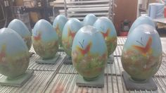 Behind-the-scenes at PWG Chocolates preparing your Handmade Butterfly Milk Chocolate Eggs! #EasterEggFriday #EasterEgg #Chocolatier