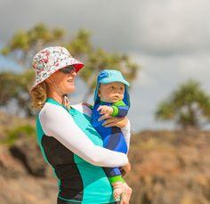 Macaquinho para bebê com proteção solar. Macacão para bebê com filtro UV.