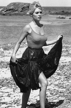'AND GOD CREATED WOMAN' ...and then he put that woman (Brigitte Bardot) on a beach. And it was good.  Photo: Kingsley-International Pictures