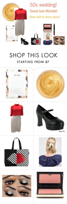 """""""For Michelle (sister) - Michelle's ideal wardrobe by me: 50s wedding!"""" by sarah-m-smith ❤ liked on Polyvore featuring Oribe, Gucci, Funtasma, Lulu Guinness, ASOS, Kevyn Aucoin and NARS Cosmetics"""