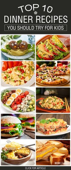 Top 10 Yummy Dinner Recipes You Should Try For Kids