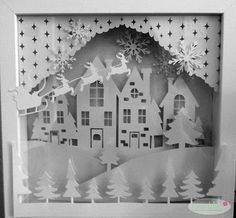 Plotter Ribba Rahmen 3D-Motiv Winterlandschaft