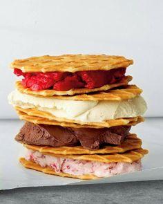 Ice Cream Waffle Sandwiches.