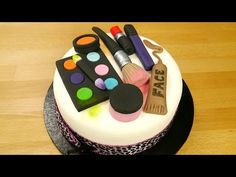 How To Make A Groovy Make Up Cake - YouTube