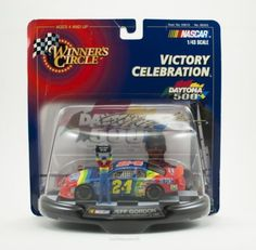 1/43 scale Diecast Jeff Gordon #24 Dupont Flames Monte Carlo Daytona 500 Winner February 14, 1999 Victory Winners Circle Nascar http://www.amazon.com/dp/B00OGSZ1BA/ref=cm_sw_r_pi_dp_2KfJwb130CPP8