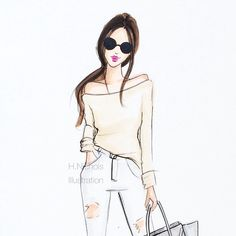 Relaxed weekend neutrals  #fashionsketch #fashionillustration #fashionillustrator #bostonblogger #neutrals #copicart #copicdesign #whitedenim