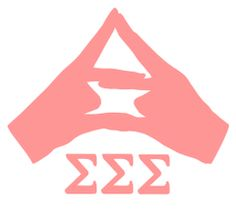 Tri Sigma Hand Sign Decal