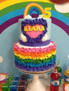 2 tier Rainbow cake