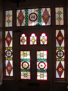 We've been busy here at Coriander Stained Glass working on a number of restoration projects. We'd like to share with you these projects for Edwardian and Victorian themed pieces. Stained Glass Door, Stained Glass Designs, Stained Glass Panels, Leaded Glass, Mosaic Glass, Entry Doors, Front Doors, Victorian Hallway, Glass Front Door