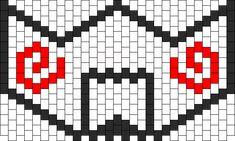 Kandi Patterns for Kandi Cuffs - Characters Pony Bead Patterns Kandi Mask Patterns, Melty Bead Patterns, Beading Patterns, Rave Bracelets, Rave Mask, Mini Iron, Kawaii Diy, Iron Beads, Chart Design