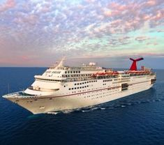 Carnival Ecstasy cruising the Bahamas