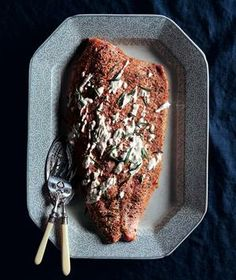 Roasted Salmon With Creamy Horseradish from realsimple.com #myplate #protein