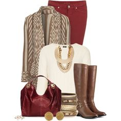 """Aztec Cardigan Contest"" by kginger on Polyvore"