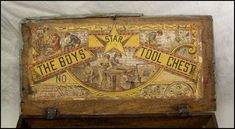 The Boys Star Tool Chest Antique Wooden Childs Tool Box Vintage Stuff, Vintage Wood, Vintage Home Decor, Vintage Cameras, Made Of Wood, Tool Box, Wooden Boxes, Wicked, Kids Room