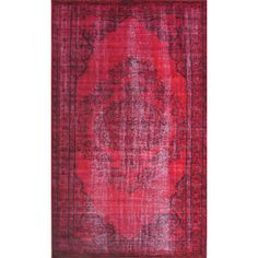 FREE SHIPPING! Shop AllModern for nuLOOM Remade Distressed Overdyed Red Area Rug - Great Deals on all  products with the best selection to choose from!