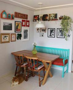 Muito amor pela sala de jantar da Eva do @ateliecasademaria. 💙 #decoraçãoporvocê