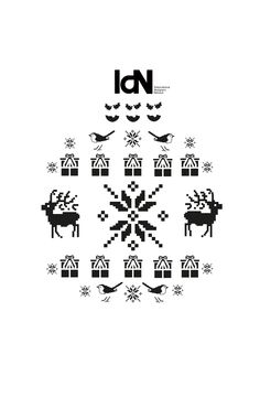 IdN magazine by Matt Cox and Dan Cramer Editorial Design, Magazine Covers, Dan, Icons, Christmas, Xmas, Weihnachten, Navidad, Yule