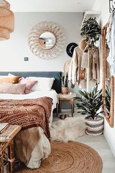 Home Bedroom Bohemianism Bohemian style Furniture Contemplation Interior design Table Home Bedroom, Bedroom Wall, Bedroom Decor, Bed Room, Master Bedroom, Girls Bedroom, Bedroom Ideas, Home Design, Interior Design