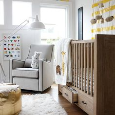 """Although we've never walked on a cloud, we have a feeling it'd feel a lot like strolling on our Walk Softly Rug.  Its cozy feel and soft color makes it ideal for a nursery. Details, details Shag rug fibers measure approximately 1""""-1."""