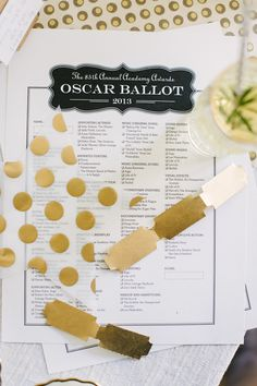 Sweet & Simple Oscars Viewing Party | theglitterguide.com    an oscar party would be fun! who's in?