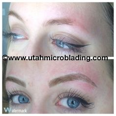 Get the most natural looking, hair stroke, semi-permanent brow tattoo! www.utahmicroblading.com BEFORE & AFTER — utah microblading