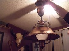*Vintage Underwriters Lab Inc Copper Pull Down Light Chandelier Cloth Wire WORKS Home Decor Kitchen, Kitchen Dining, American Decor, Traditional Interior, Early American, Downlights, Mid Century Design, Chandelier Lighting, Dining Rooms