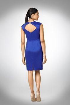 Side Ruched Taffeta Dress