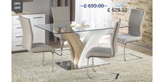 Dining Room Table Design: Valmo White Wood Dining Table rnrnSource by sikitjos Extendable Glass Dining Table, Glass Dining Table Set, Dining Room Table, Dining Chairs, Dining Area, Room Setup, Dining Room Furniture, Stainless Steel, High Gloss