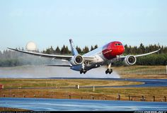 departing from - Photo taken at Oslo - Gardermoen (OSL / ENGM) in Norway in November, Boeing 787 Dreamliner, Boeing 787 8, Norwegian Airlines, Boeing Planes, Commercial Plane, Gas Turbine, Civil Aviation, British Airways, Aircraft Pictures