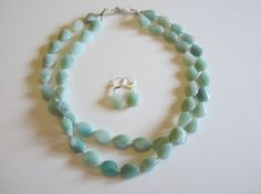 Amazonite double strand necklace Fall Necklace Beach by yasmi65, $35.00