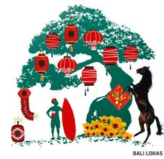 Bali Lohas wishes everyone a Happy Chinese New Year~!!  巴厘乐活祝大家马到功成, 身体健康, 万事如意, 心想事成, 财源滚滚来~!