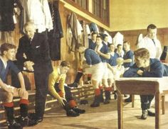 1960's dressing room at Ibrox.