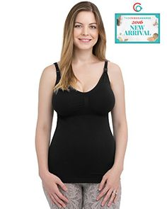 291986ba491b6 Kindred Bravely Simply Sublime Maternity Nursing Tank with BuiltIn Bra  Black Large    You can