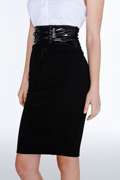 Pin Up High Waisted Corset Skirt – LIMITED ($100AUD) by BlackMilk Clothing