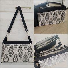 @atelier_sable_noir sur Instagram: Mon sac à main actuel, un #chachacha de @patrons_sacotin en bachette feuille @tissusdesursules et lin enduit noir de…
