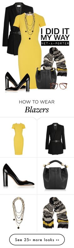 """I Did It My Way with Net-A-Porter"" by missbeaheyvin on Polyvore featuring Yves Saint Laurent, Victoria Beckham, Rosantica, Etro, Gianvito Rossi and Chloé"