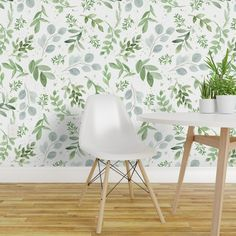 Peel-and-Stick Removable Wallpaper Eucalyptus Green Boxwood Magnolia Leaves - Walmart.com - Walmart.com Wallpaper Panels, Self Adhesive Wallpaper, Custom Wallpaper, Wallpaper Roll, Peel And Stick Wallpaper, Removable Wallpaper For Renters, Wallpaper Ideas, Closet Wallpaper, Laundry Room Wallpaper