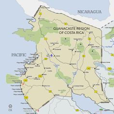 Map Of The Guancaste Region Costa Rica Conquered Kendra This Has Good