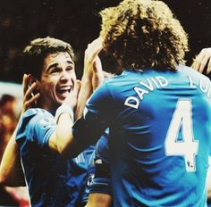 David Luiz and Oscar Chelsea