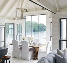 "147 Likes, 4 Comments - Home Bunch (@homebunch) on Instagram: ""Oh, #Canada... you are so #beautiful! #Gorgeous #lake #cottage with floor-to-ceiling #windows,…"""