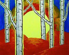 Vision Quest XXVII Original Acrylic Painting 8 x by MikeKrausArt