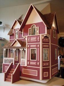 Dollhouse John bought for Stella.  Newberg Doll House | Pretty Little Houses