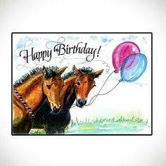 Birthday Messages Happy Cards Wishes Horse Moose Art